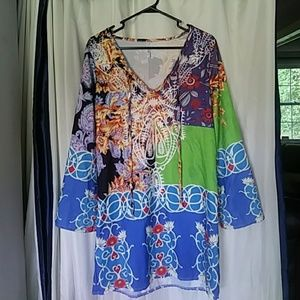 Lucky sz L Womens Tunic